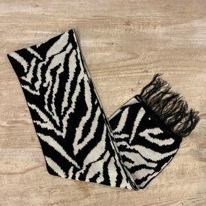 Zebra Print Knit Scarf